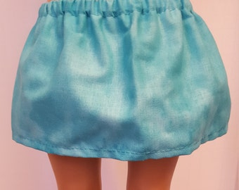 American Girl Doll Clothes-Teal Skirt