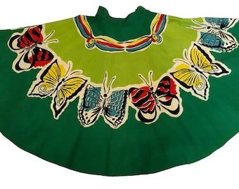 1950S Butterfly Full Circle Skirt Novelty Border Print