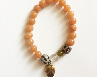 orange hot air balloon bracelet
