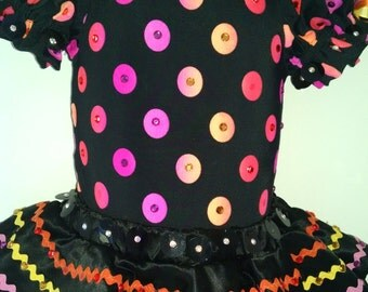 Dance Costume-Competition Bright Polka dot-cutom-Child 2T