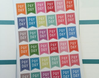 Payday Planner Stickers for use with ERIN CONDREN LIFEPLANNER™, Happy Planner, A5, Personal, Pocket, Travelers Notebook