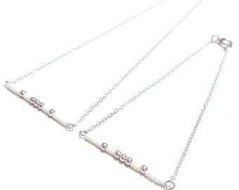 Silver bracelet Layering Bracelet Satellite Bracelet Chain Bracelet Beaded Bracelet Delicate bead Bracelet