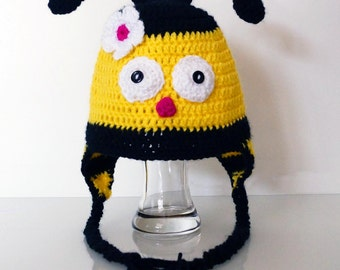 Crochet Bumble Bee Hat