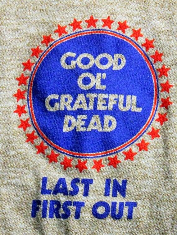 Grateful Dead T Shirt Official Crew Vintage 83 By Offbeatrelics