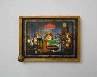 "MAGNET:  Unique Primitive Rustic 3"" by 4"" Framed Magnet/Wall Hanging"