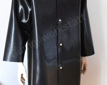 Rubber coat with hood