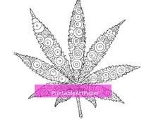Articles populaires correspondant feuille de coloriage sur etsy - Coloriage feuille de cannabis ...