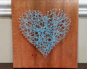 Heart String Art, Love, Made to Order, Wall Decor
