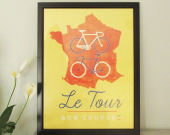 Le tour graphic cycling poster