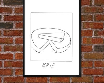 Badly Drawn Brie -  Cheese Poster - *** BUY 4, GET A 5th FREE***