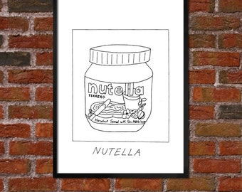 Badly Drawn Nutella - Poster
