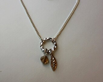Dainty Feather Silver Charm Bracelet