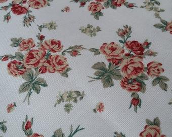 Red Rose Bouquet Cotton Canvas