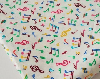 Music Notes Cotton Fabric