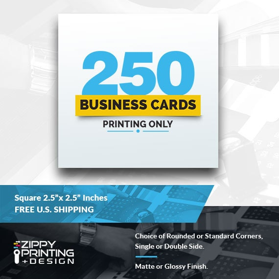 250 Square Business Cards 2 5 x 2 5Business Cards