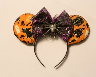 Halloween Themed Minnie Ears