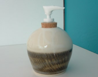 Soap or Lotion Dispenser, Handmade Pottery Soap or Lotion Dispenser