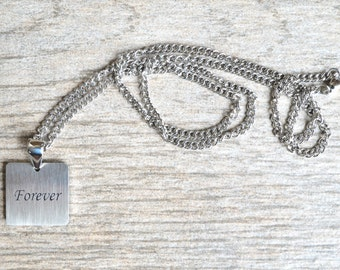 Forever - Inspirational / Expressional Necklace Pendant Jewelry, Stainless Steel
