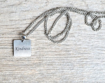 Kindness - Inspirational / Expressional Necklace Pendant Jewelry, Stainless Steel