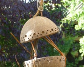 Feeding dish for the  birds  in coconut