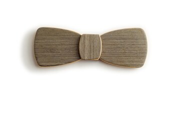 Wood Bow Tie - White noise - Batwing