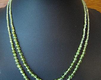 Peridot Beaded Necklace ** SALE