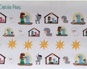 Jesus is Here! Beautiful Nativity Planner Stickers