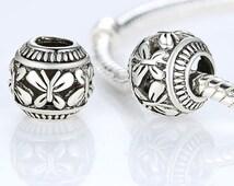Vintage 925 Silver Butterfly Charm Fit Pandora Bracelet Necklace Original Accessories