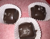 CHOCOLATE Dark Chocolate-Dipped Homemade Sea Salt Caramels
