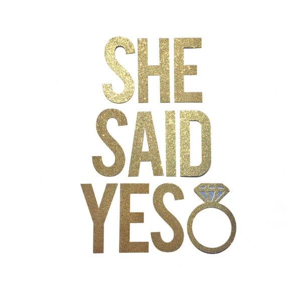 She Said Yes Banner Bridal Shower by ShowPonyPartyShop on Etsy