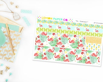 Oh, Flamingo! // Washi Strips (Planner Stickers for Erin Condren Vertical and MAMBI The Happy Planner)