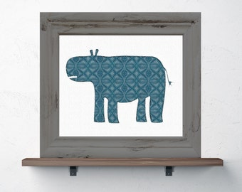 Hippo Print 8x10 or 11x14 with Matte Options