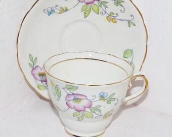 Colclough Tea cup Saucer 6504  - 405