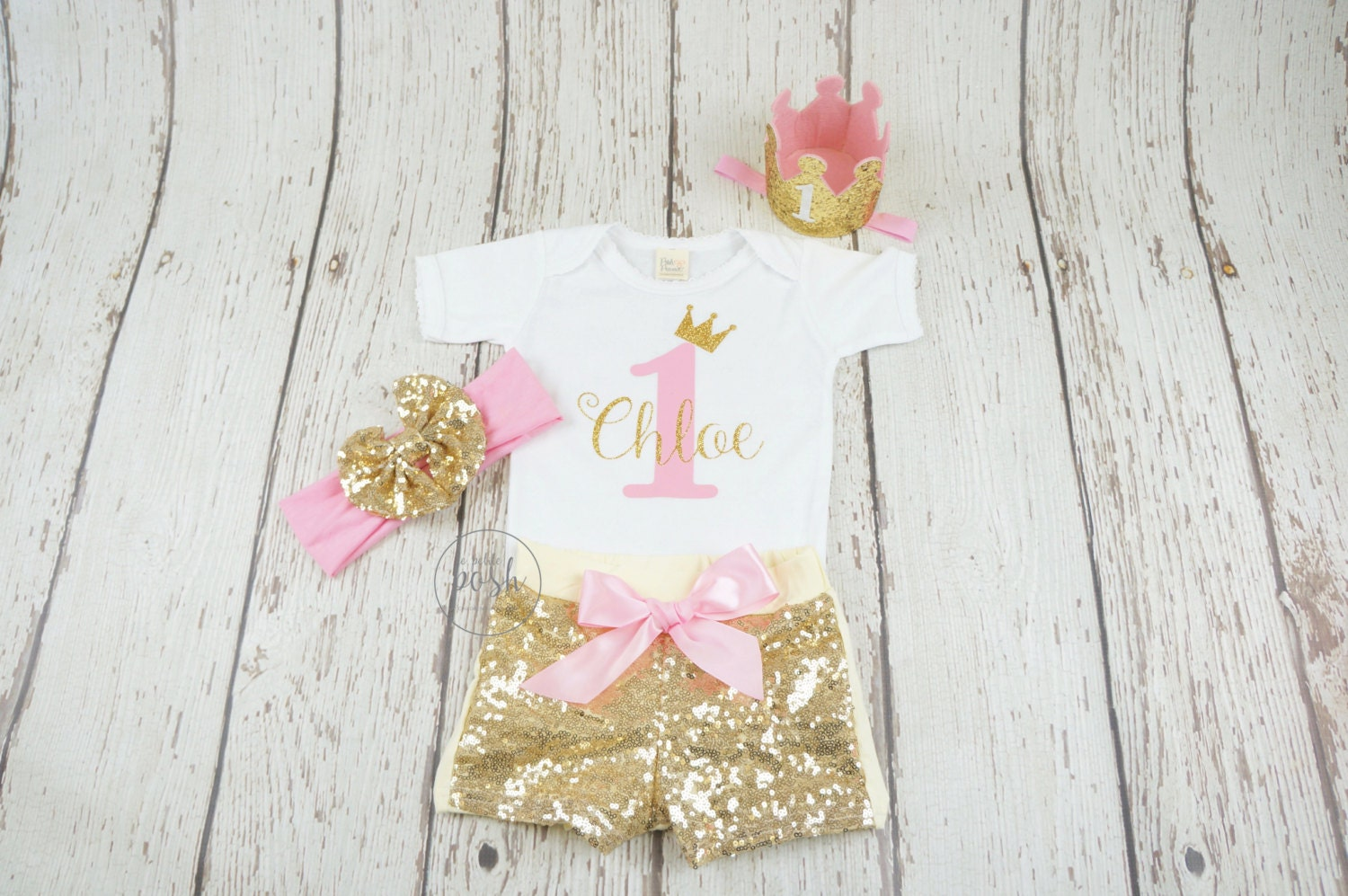 1st Birthday Outfit Princess Birthday Outfit Pink And Gold