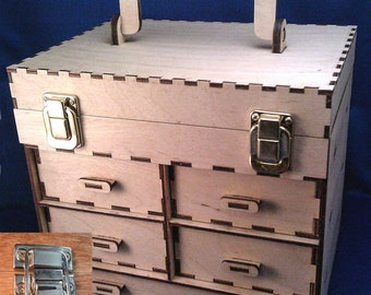 5-Drawer Wood Toolbox/Jewelry Box Kit- Make It Your Own!