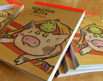 Cute Little Pig Full Color Notepad Japanese Kawaii Style Piggy Note Paper