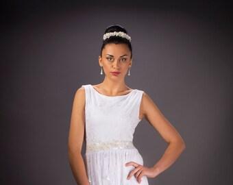 Boho wedding dress,  Lace Wedding dress, White wedding dress, Bridal dress, Lace bridal dress.