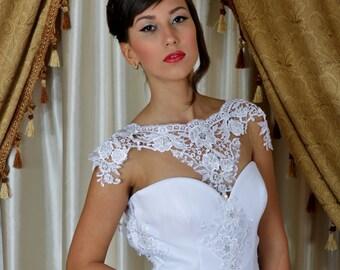 Vintage wedding dress, Backless Wedding dress, Lace wedding dress,, Wedding dress, Bridal dress.