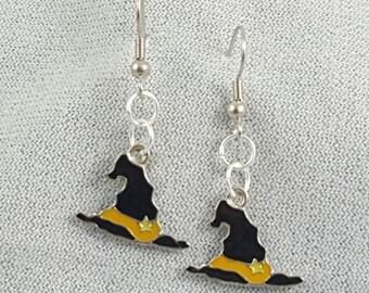Halloween earrings - witch hats