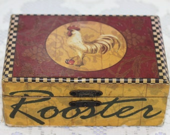 Vintage 1950's Rooster Box