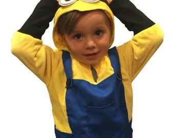 ComfyCamper Super Comfy Halloween Costume Minion Costume Sweatshirt Minion Halloween Costume