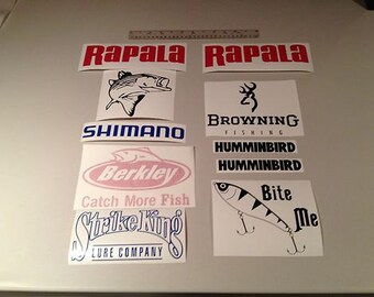 Lot of 10 Fishing Decals