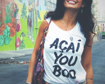 Acai You Boo Muscle Tank | Hella Healthy | Plant Based Apparel | Veggie Centric | Kale | I Stay Woke |