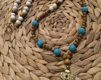 Cross Necklace--Tourquoise
