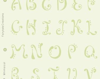 "Whimsical Alphabet Stencil, 8-1/2"" x 11"""