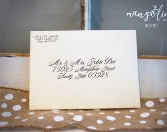 Custom Addressed Envelopes for Weddings