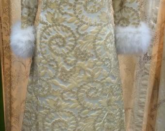 Vintage 1960's Brocade Maxi Dress