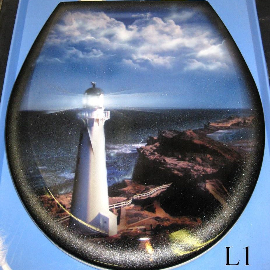 Lighthouse Custom Airbrushed Toilet Seat 3 Designs New