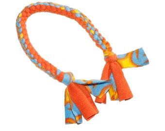 Fleece Dog Toy Tug - Aqua + Orange Flames | Fleece Tug, Tug Toy, Dog  Toy Made in USA