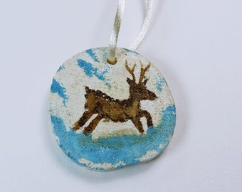 Deer deer reindeer - tree ornaments Christmas decorations Christmas - hand painted Dekoanhänger from wood - unique